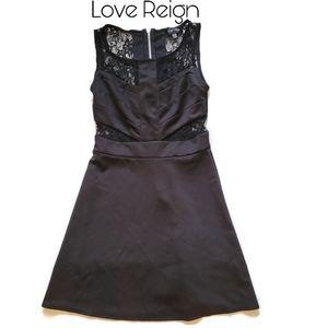 3/$25 🥂 Love Reign Black Dress w/ Lace Detail